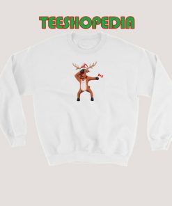 Canada Day Dabbing Sweatshirt Canadian dabbing Moose Size S – 3XL