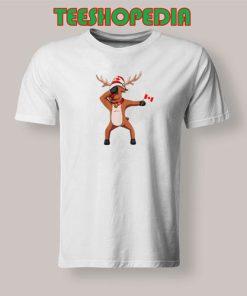 Canada Day Dabbing T-Shirt Canadian dabbing Moose Size S – 3XL