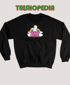 Death Metal Unicorn Sweatshirt Funny Women and men Size S – 3XL