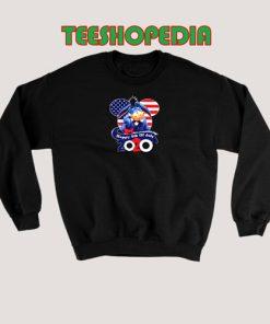 Eeyore Happy July Sweatshirt 4thh of July America Flag Size S – 3XL