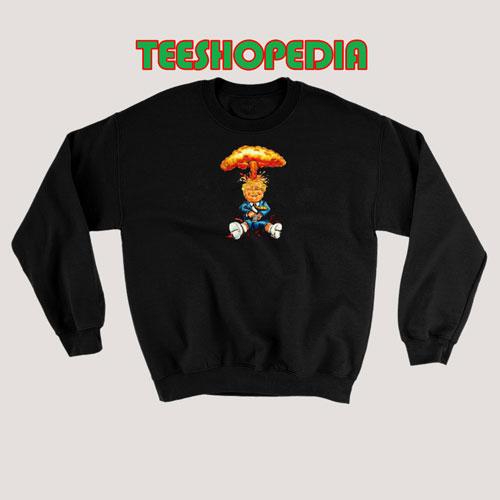 Nuclear Trump Cartoon Sweatshirt Women and Men Size S – 3XL
