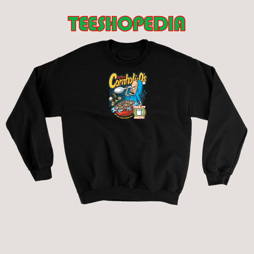 The Great Cornholio Sweatshirt Are You Threatening Me Size S – 3XL