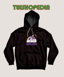 Unicorn Rainbow Heavy metal Hoodie Death Metal Rock Funny Size S – 3XL