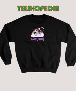 Unicorn Rainbow Heavy metal Sweatshirt Death Metal Rock Funny Size S – 3XL
