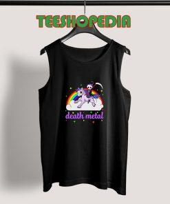 Unicorn Rainbow Heavy metal Tank Top Death Metal Rock Funny Size S – 3XL