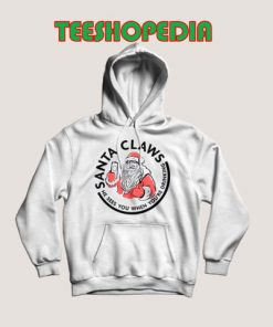 Santa White Claw Christmas Hoodie 247x296 - Sustainable Funny Shirts