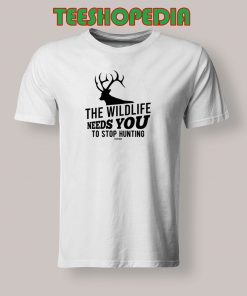 The Wildlife Needs You Stop Hunting T Shirt 247x296 - Sustainable Funny Shirts